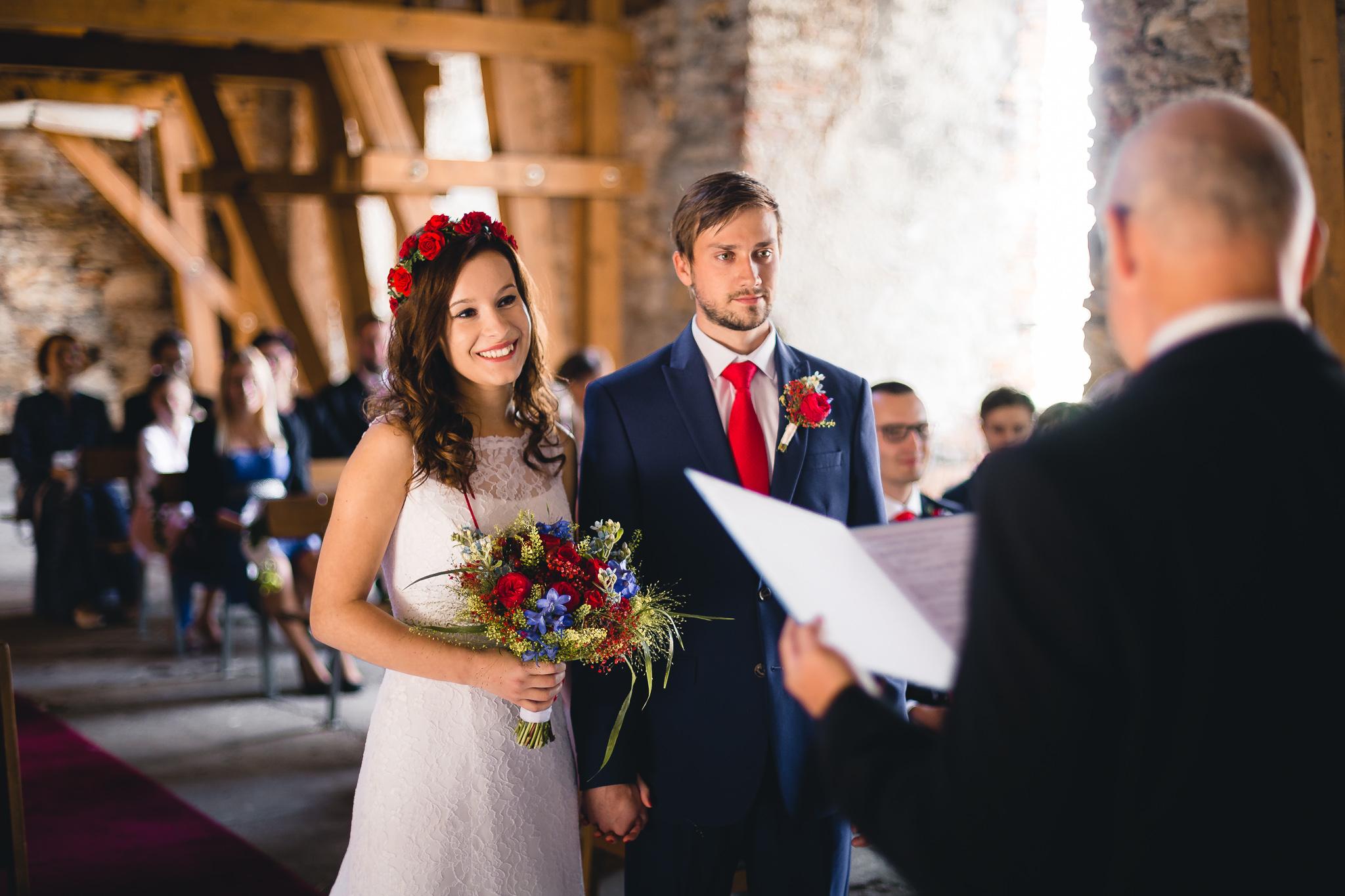 Svatba Báry a Lukáše na hradě Košumberk